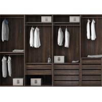 Buy cheap Pull Out Cloth Rack Walk In Closet Cabinets , Melamine Finish 4 Door Wardrobe from Wholesalers