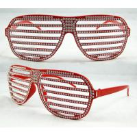 Buy cheap Red Big shutter lens Party Funny Glasses with CE EN1836, ANSI Z80.3 for Halloween party from wholesalers