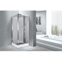 Quality Square 900 X 900 Bathroom Shower Cabins White ABS Tray Chrome Profiles wholesale