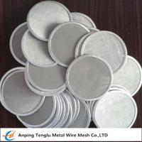Buy cheap Single Layer Filter Net Piece|SUS304 Wire Mesh Filter Disc 12x64mesh from wholesalers