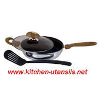 Buy cheap 3 PCS stainless steel fry pan set,stainless steel cookware from Wholesalers