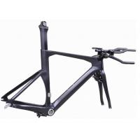 Buy cheap Di2 Compatible Carbon Triathlon Bike Frame 700C BSA / BB30 For Racing TT Bicycle from Wholesalers