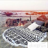 Buy cheap Adults Colorful Round 100 cotton beach towels Large Size 150cm Dry Fast from Wholesalers