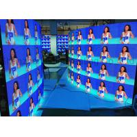 Quality Curved Portable P3.91 Die Cast Aluminum Rental LED Display Indoor Full Color 500x500 LED Panels CE / RoHS Flight Case wholesale