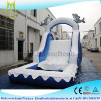 Buy cheap Hansel China PVC material kids jumping castle bouner water slide outdoor play equipment from Wholesalers