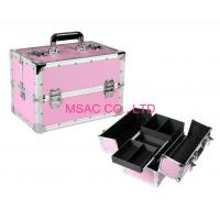 Buy cheap Pink Aluminium Beauty Case Silver Aluminum Edges L 260 X W 150 X H 160mm from Wholesalers