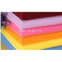 100% polyester two side brushed one side antipilling solid color  polar fleece fabric