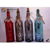 Buy cheap Electroplate Finish Wine Bottle Led Lights With Paint Color / Words from Wholesalers