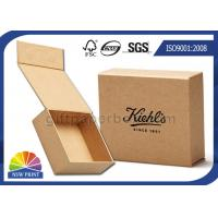 Quality Logo Printed Brown Kraft Paper Gift Box / Magnetic Closure Hinged Lid Cardboard Box for sale