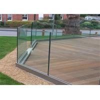 Buy cheap Customized Tempered Glass Deck Railing Anodized Aluminum Framless Fencing from wholesalers