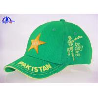 Quality 100% Cotton Embroidery Cricket Baseball Cap With Pakistan 3D Embroidery wholesale