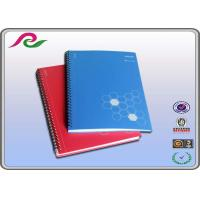 Buy cheap blue / red PP Cover Spiral Bound Notebooks for business office writting from Wholesalers