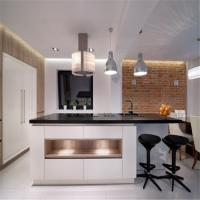 Buy cheap Free Standing MDF Kitchen Cabinets Quartz / Granite Countertop Easy For Cleaning from wholesalers