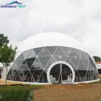 20M Outdoor Geodesic Dome Tent With Hot Galvanized Steel tube
