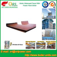 Buy cheap CFB 110 MW Boiler Water Wall Panels For High Temperature Solid Fuel Boiler from wholesalers