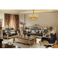 Buy cheap Luxury Classic Living room Sofa sets online direct sales price by Beech wood carfted and Import Italy Leather upholstery from wholesalers