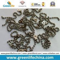 Decorative 2.0mm Metal /Stainless Steel Bead Ball Badge Chain