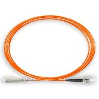 Buy cheap Simplex Multimode Fiber Optic Patch Cables 3.0mm OM1 PVC ST - SC / PC 1M from wholesalers