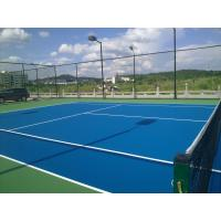 Buy cheap High Hardness Olympic Blue Color Acrylic Sports Flooring For Tennis Court Easy from wholesalers