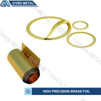 Buy cheap precision brass foil used for laminated shims/wide range of thickness:0.01-0.1mm/bright golden yellow/can be customized from wholesalers