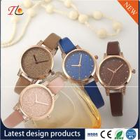 Buy cheap wholesale customization Pu watch  alloy case  quartz watch fashion watch Colorful leather band Shining diamond ladywatch from wholesalers