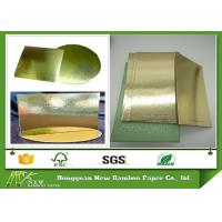 Buy cheap Grey Back Cake Boards Metalized Shiny Laminated Gold Foil Paper from Wholesalers