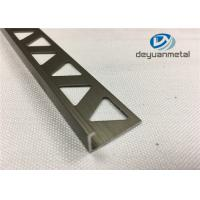 Quality 6063-T5 Polishing Bronze Aluminium Extrusion Profile Round Edge Aluminium Trim wholesale