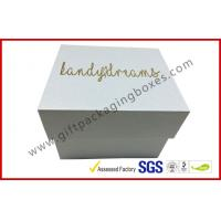 Buy cheap Pearl white top and base box golden logo , smart watch box with PU pillow from Wholesalers