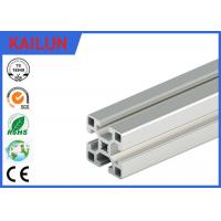 Buy cheap Square Aluminum Industrial Profile , 4040 T Track Aluminum Extrusions Linear Rail from Wholesalers