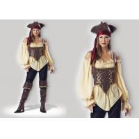 Buy cheap Rustic Pirate Lady 1024  Halloween Adult Costumes Brown Yellow Red Mixed Color from Wholesalers