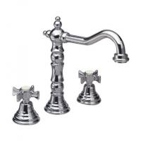 Buy cheap Antique Brass 3 Hole Kitchen Tap Faucet With Ceramic Independent Switch from Wholesalers