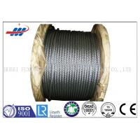 High Tensile Flexible Galvanized Steel Wire Rope With 6-48mm Wire Gauge