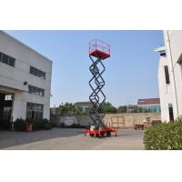 Buy cheap 7.5 meters height mobile hydraulic lift platform with motorized device loading capacity at 450Kg from wholesalers