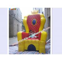 Buy cheap Custom Advertising inflatable , PVC Tarpaulin For King Throne Chair from Wholesalers