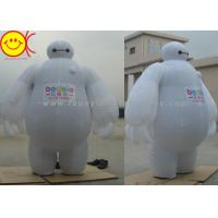 Quality Baymax Mobile Inflatable Advertising Costumes Easily Folds Away For Compact Storage wholesale