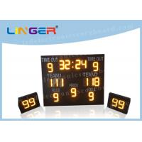 Quality IP65 Waterproof LED Basketball Scoreboard Iron / Steel / Aluminum Frame Material wholesale