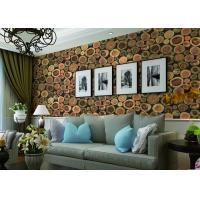 Buy cheap Chinese Style Embossed 3D Home Room Decoration Wallpaper For Saloon / TV Background from wholesalers