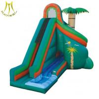 Quality Hansel  inflatable play center inflatable castle kids large inflatable green slide for sale