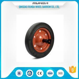 13inches Rubber Tyred WheelsCentered Hub Line Tread 20mm Bore Hole Multi Corlor