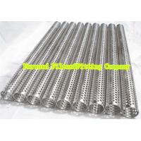 Buy cheap Custom Round Perforated Stainless Steel Pipe With Longitudinal Seam , Filter Support from Wholesalers