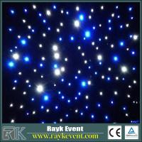 China Blue+White led star curtain event stage decorations  high quality Led Star Cloth on sale