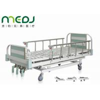 Buy cheap Green Manual Hospital Bed Height Adjustable Three Cranks Steel Frame MJSD05-10 from Wholesalers