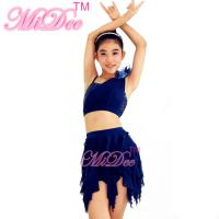 Buy cheap Soft Mesh Spiral Skirt Dianogal Sequins Top One Shoulder Belly Dancing Clothes from Wholesalers