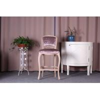 Buy cheap Linen Velvet Fabric Wooden Upholstered Bar Stools / Counter Stools With Backs from wholesalers