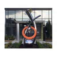 Buy cheap Fine Art Modern Stainless Steel Sculpture Monumental Sculpture 3D Abstract Guitar from Wholesalers