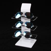Buy cheap Clear White Acrylic Eyewear Display Rack Plexiglass Sunglasses Counter Shelf Display from Wholesalers