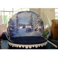 Buy cheap Personalized Christmas Inflatable Snow Globes Outdoors Clear Dome Tent from Wholesalers