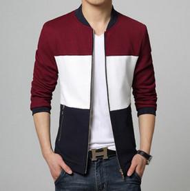 China Mens Highneck Zip Up Jacket fashion stripe jacket series for men on sale