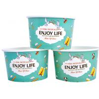 Buy cheap Colourful To Go Branded Ice Cream Cups Food Grade With 6- Colour Printing from Wholesalers