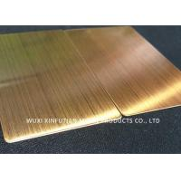 China ASTM Standard 310S Cold Rolled Stainless Steel Sheet Hair Line Customized Packing on sale